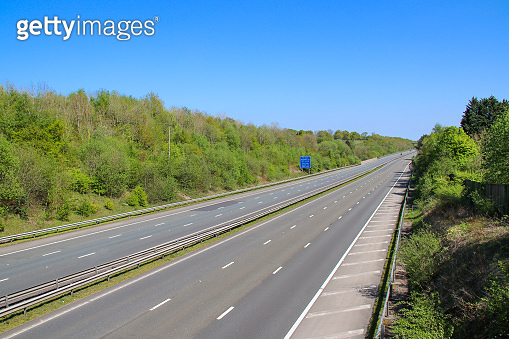Empty M4 motorway UK during Covid-19 pandemic