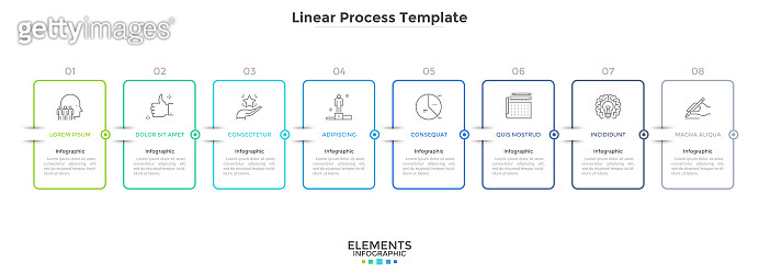 Modern Linear Infographic Template