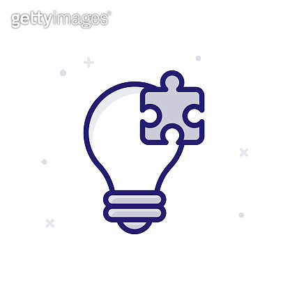 Creative Solution Vector illustration. Outline Filled Growth and Inveatment icon.