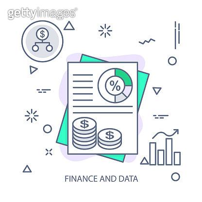 Finance and Data vector illustration flat design concept. EPS 10 File