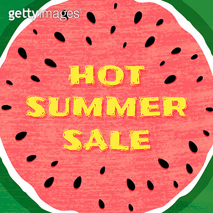 Set of empty templates with summer themes on a watermelon background. Design of advertising banners. Hot Summer Sale Banner, Sale Poster, Sale Flyer, Sale Vector. Vector illustration.