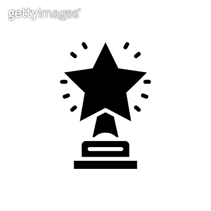 Star Trophy Vector Icon Glyph Style Illustration EPS 10 File