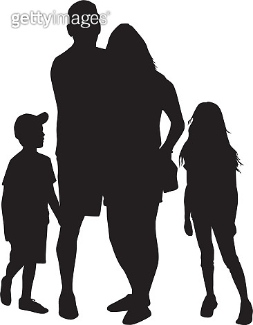Family of silhouettes. Conceptual illustration.