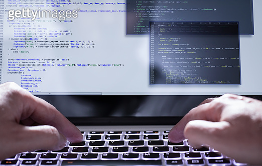Website design. Developing programming and coding technologies.