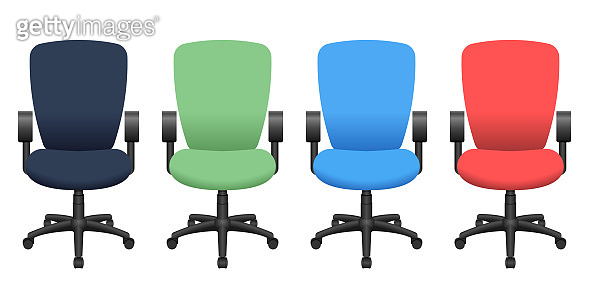 Office chair vector design illustration isolated on white background