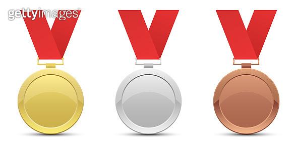 Winner medal vector design illustration isolated on white background