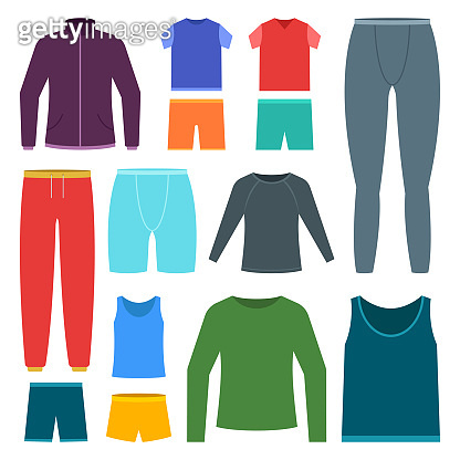 Men sports clothing set vector design illustration isolated on white background