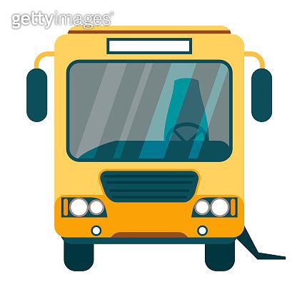 Vector urban bus, ramp for disabled passenger