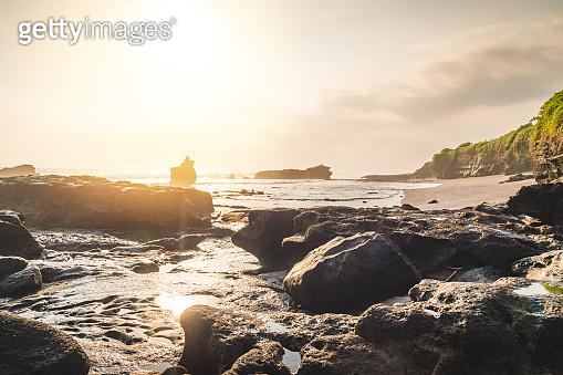 Sunset nature landscape tropical sea of Indonesia, Bali.
