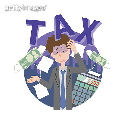 Men suffering from tax