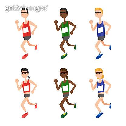 Men and women who run marathons