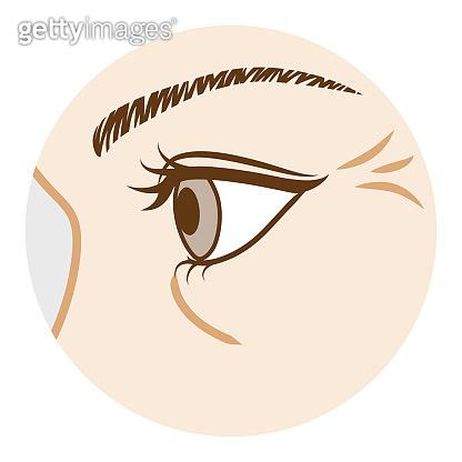 Eye Wrinkle - Body part,Side view