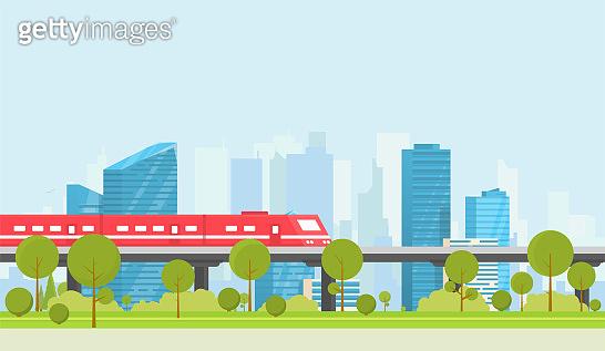 City subway illustration
