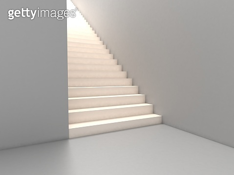 3d rendering, empty stairs