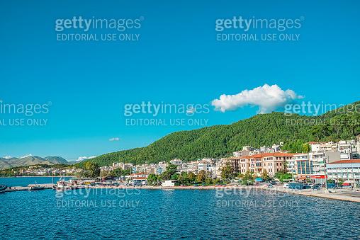 Amazing bay on Corfu island, Greece