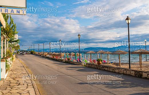 Amazing road on Corfu island near coast