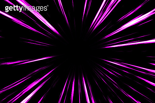 Pink comic radial speed lines in black background. Action speedline inspired by japanese Anime.