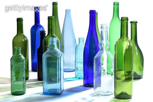 Bottles on white backgrouns