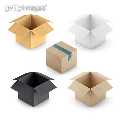 Delivery Box Template on white background
