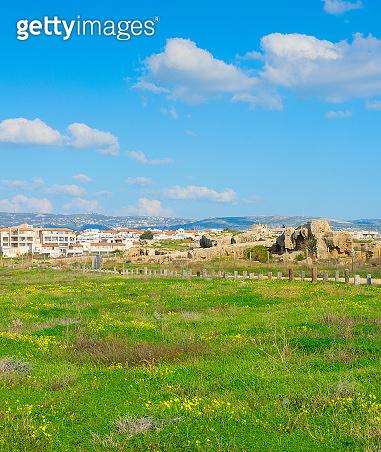 Skyline Paphos Mosaics people Cyprus
