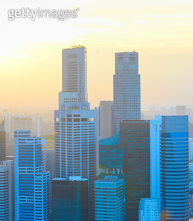 Sunset Singapore Downtown financial district