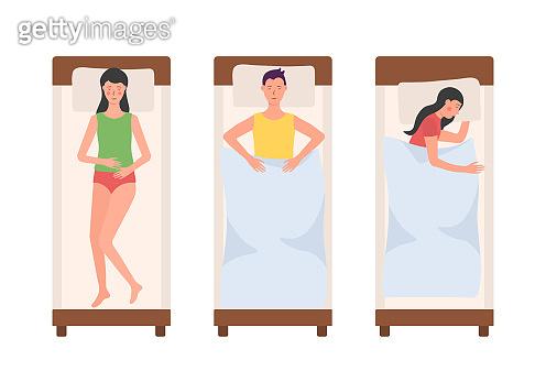 People sleeping bed.