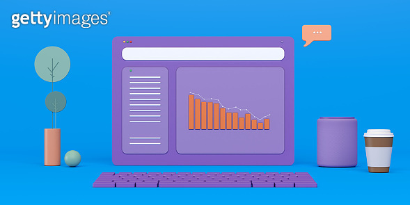 Business Trends Graphs and charts minimalistic style
