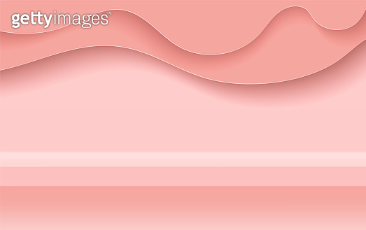 Holiday sale banner minimal background.Creative modern with realistic for placing objects on a shelf podium.Winter season wallpaper.pink pastel color tone.Abstract curve paper art and craft style