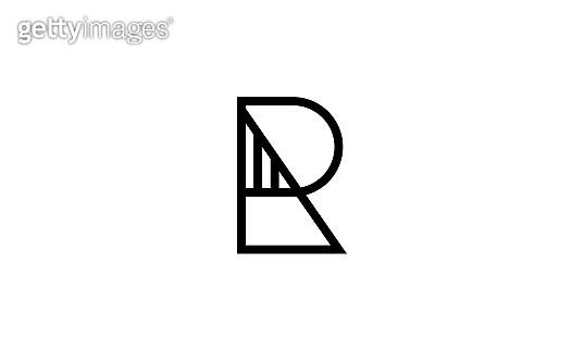 ra or ar abstract monogram letter mark symbol logo tempate