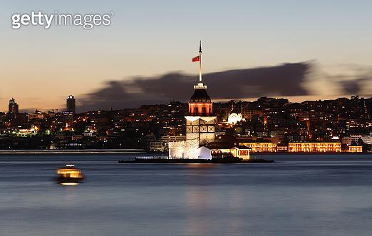 Maidens Tower in Bosphorus Strait, Istanbul City, Turkey