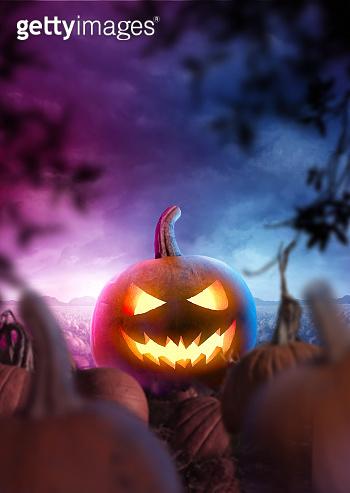 Halloween Party Background Landscape Design
