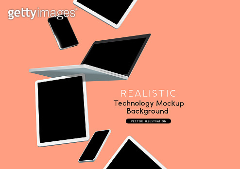 Technology Mockup Background Devices
