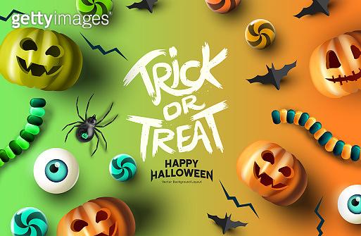 Halloween Background Layout Design