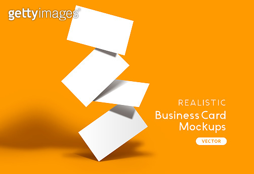 Realistic Business Card Stack
