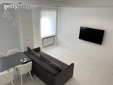 modern living room with sofa and tv