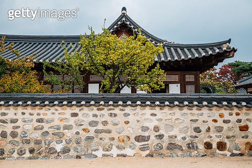 Korean traditional house at Namsangol Hanok Village in Seoul, Korea
