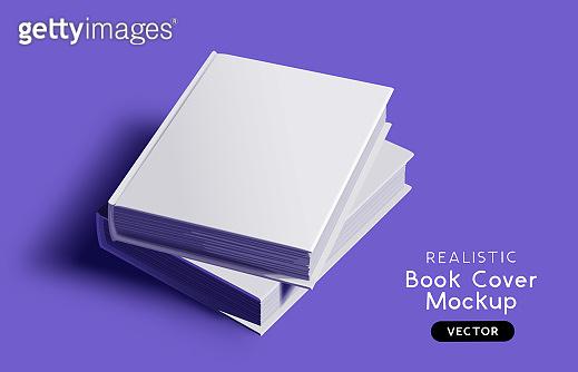 Vector Book Cover Blank Mockup Design