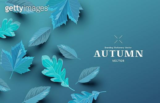 Autumn Season Composition Layout