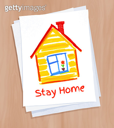 Stay Home concept vector illustration
