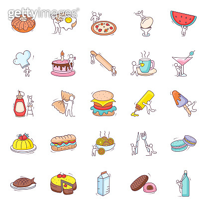 Fast Food Flat Icons Pack