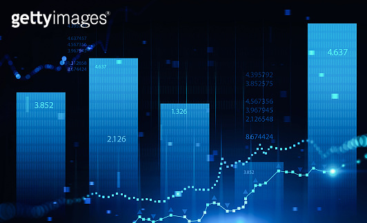Stock market and forex graph background