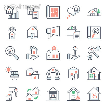 Pack Of House Flat Icons