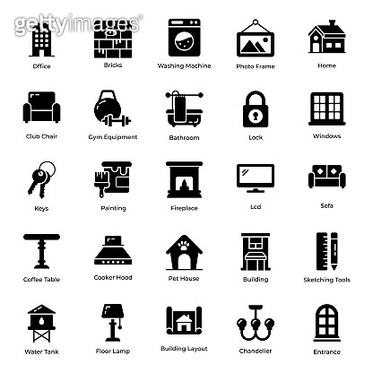 Home Appliance Filled Icons Pack