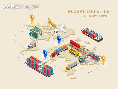 Global logistics scheme with destination points