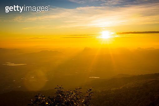 Majestic sunrise over the mountains ,Sunrise - Dawn, Sky, Mountain, Sunlight, Sun