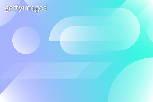 Abstract colored background from triangles, circles and lines. Vector. Geometric figures. Horizontal vibrant gradient background for projects. Modern style. Illustration for website and poster.