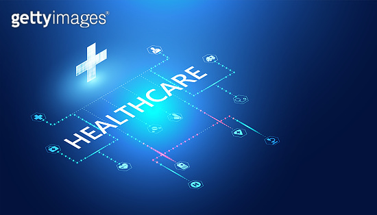 Abstract healthcare & Medical concept Linking health information.