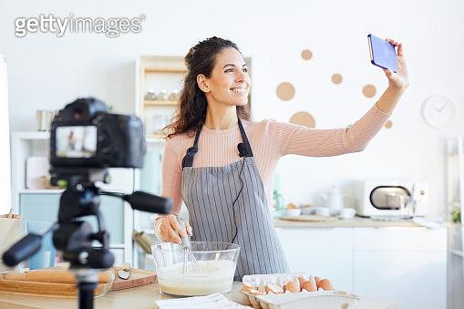 Food Blogger Taking Selfie