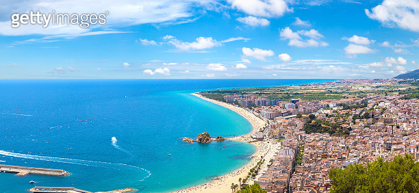 Panoramic view of Blanes