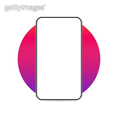 Smartphone realistic mockup, blank mobile phone. Modern digital device technology in perspective. Vector illustration of isolated design for user interface presentation.